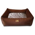 Chocolate and Zebra Print Dog Bed